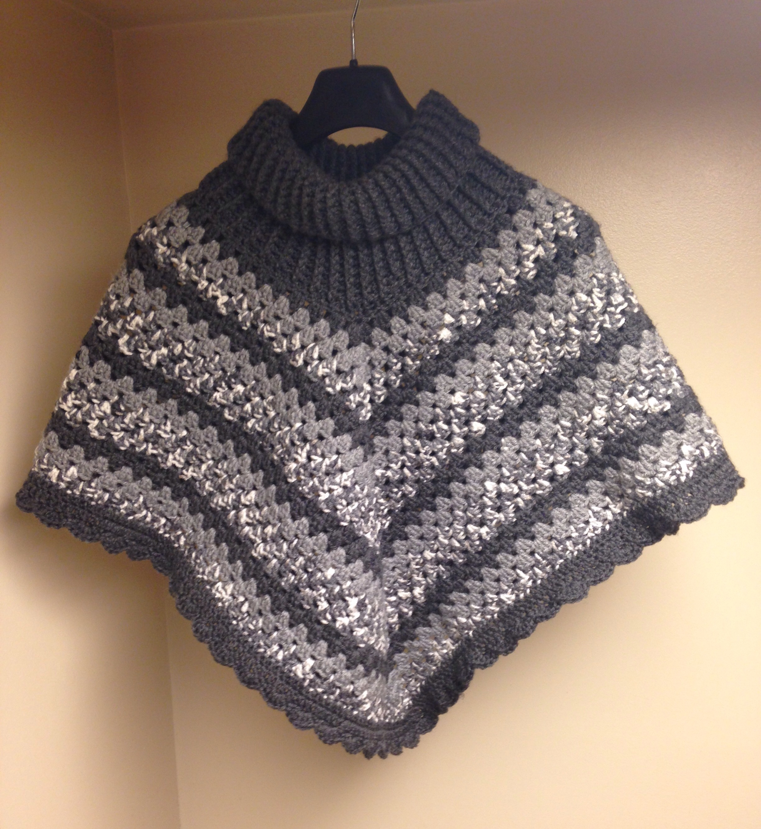 Knitting Pattern For Poncho With Cowl Neck : Cowl neck poncho Hey Can You Crochet Me A...Blog